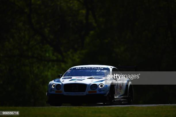 The Team Parker Racing Bentley Continental GT3 of Joshua Caygill and Aaron Taylor Smith drives during the Blancpain GT Series Sprint Cup at Brands...