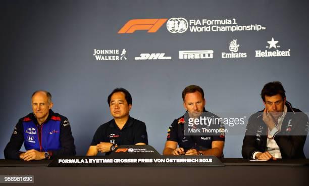 The Team Principals Press Conference with Scuderia Toro Rosso Team Principal Franz Tost, Toyoharu Tanabe of Honda, Red Bull Racing Team Principal...