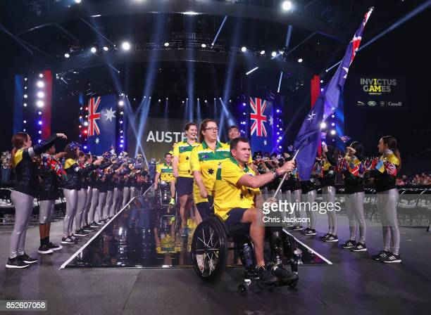 The team representing Australia arrives during the opening ceremony of the 2017 Invictus Games at Air Canada Centre on September 23 2017 in Toronto...