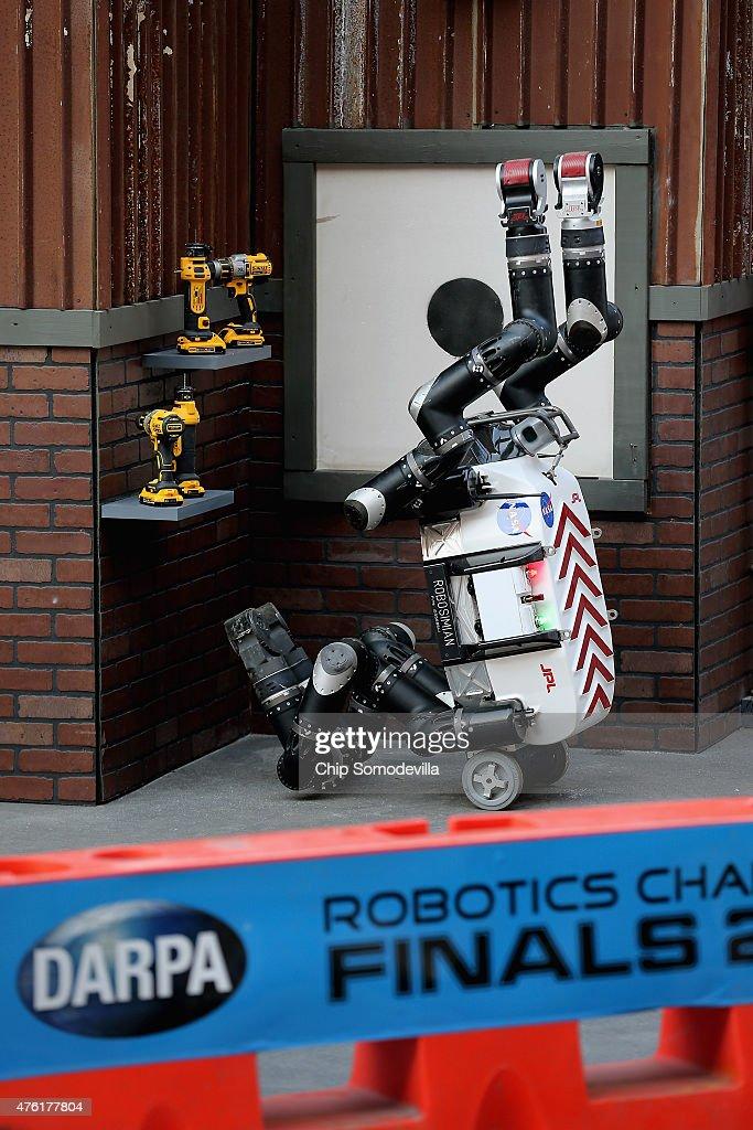 DARPA Robotics Challenge Showcases Cutting Edge In Artificial Intelligence : News Photo