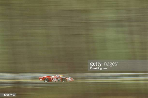 The Team Schuppan Porsche 962 C driven by Hurley HaywoodWayne Taylor and Rickard Rydell during the FIA World Sportscar Championship 24 Hours of Le...