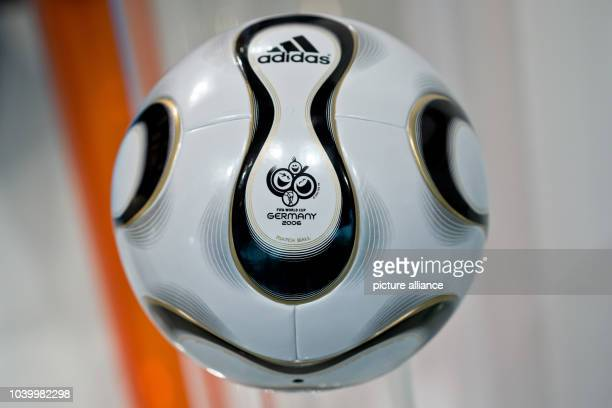 The 'Teamgeist' soccer ball which was the offcial ball of the 2006 soccer world cup in Germany is pictured during the general meeting of sporting...