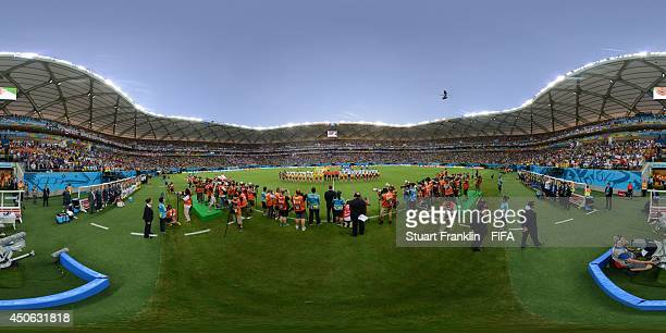 The teams line up before the 2014 FIFA World Cup Brazil Group D match between England v Italy at Arena Amazonia on June 14 2014 in Manaus Brazil
