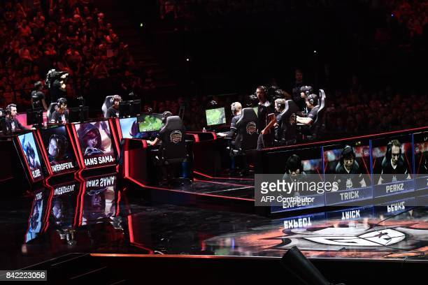 The teams Misfits Gaming and G2 Esports compete in final of the 'LCS' the first European division of the video game 'League of Legends' at the...