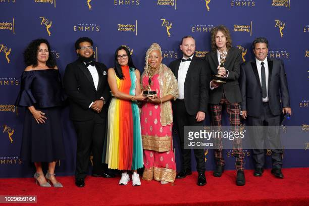 The teams of The Corner Shop Production Company BBDO New York and Ad Agency winners of the award for outstanding commercial for 'The Talk PG My Black...