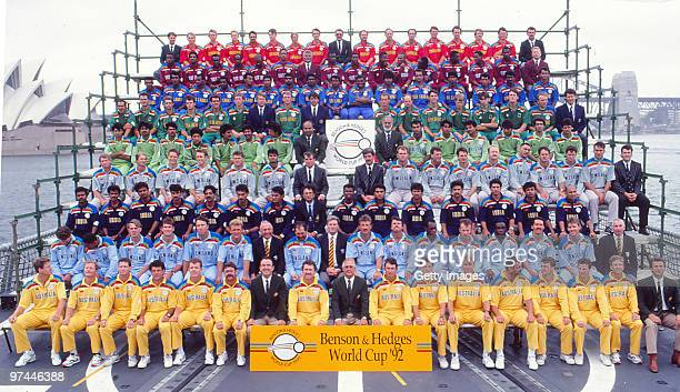 The Teams Pose Together Ahead Of 1992 Cricket World Cup In Sydney Australia
