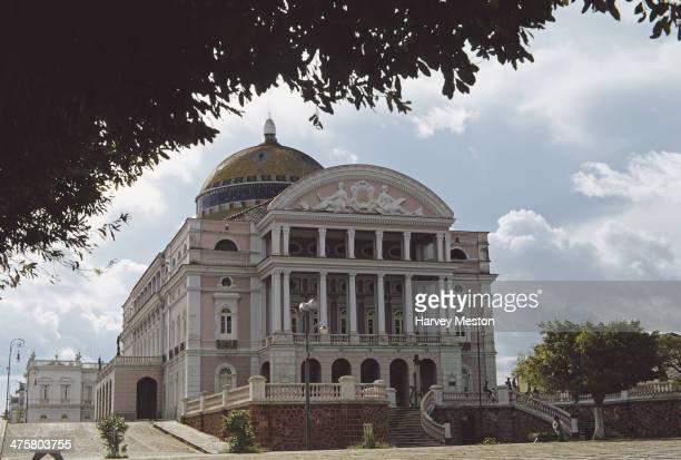 The Teatro Amazonas or Amazon Theatre an opera house in Manaus Brazil circa 1960