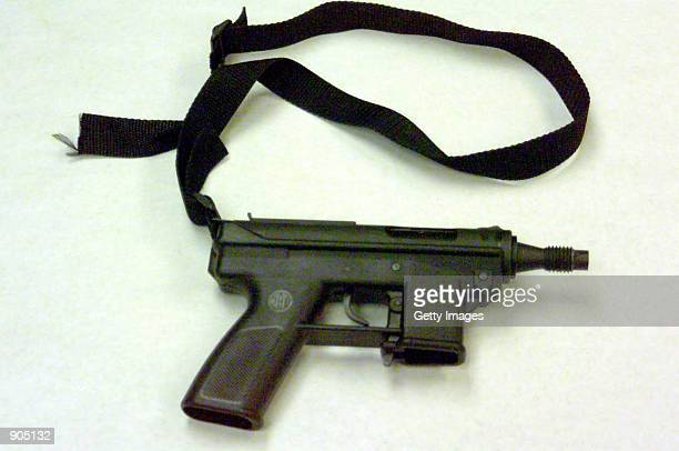 The Tec9 automatic weapon used by teenage gunmen Eric Harris and Dylan Klebold April 20 1999 in the Columbine High School shooting in Littleton CO...