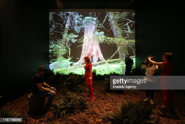 The technology data science and art of leading digital art collective Marshmallow Laser Feast is seen at Odunpazari Modern Art Museum which was...
