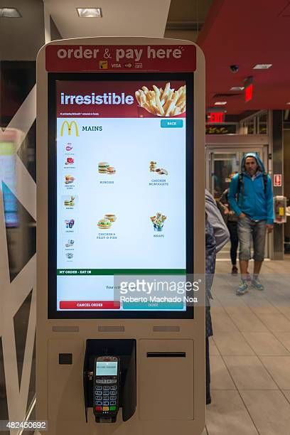 STREET TORONTO ONTARIO CANADA The technology invading business to save jobs Macdonald's self ordering kiosk installed in a building