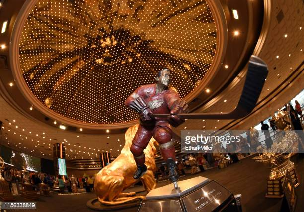 The Ted Lindsay Award is displayed at MGM Grand Hotel Casino in advance of the 2019 NHL Awards on June 16 2019 in Las Vegas Nevada The 2019 NHL...