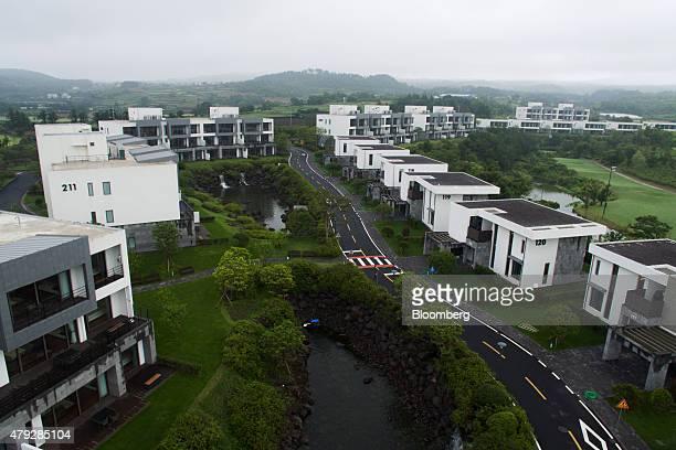 The Teddy Palace apartments developed by Jeju China Castle Ltd stand in Seogwipo in Jeju South Korea on Sunday June 28 2015 South Koreaâs 15 trillion...