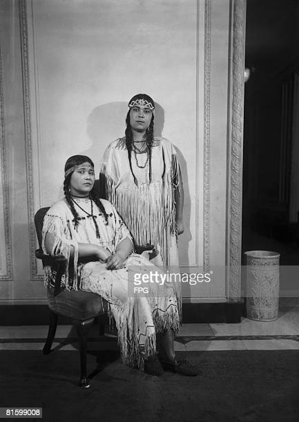 The teenage Adkins sisters of the Iroquois Nations circa 1925