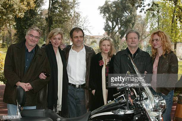 Christian Rauth Cecile Auclert unidentified Florence Thomassin unidentified and Carole Richert at the 2004 Cognac Film Festival