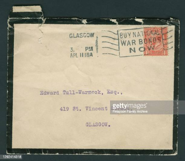 The telegram received by Walter Tull's brother and next of kin, Edward Tull-Warnock, notifying him of Walter's death in 1918. Walter Tull is believed...
