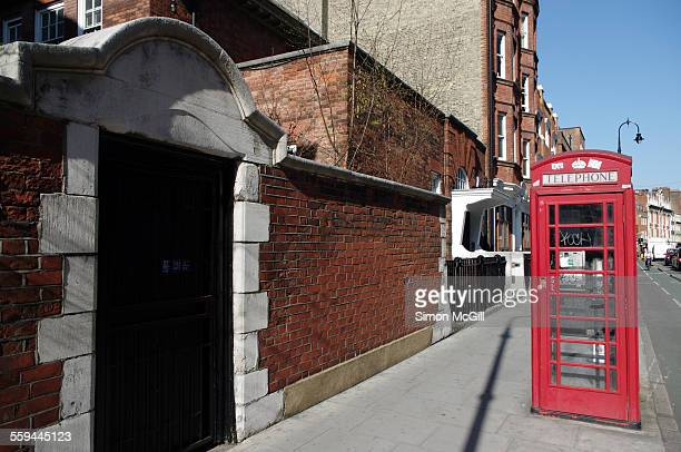 the telephone booth - bloomsbury london stock photos and pictures