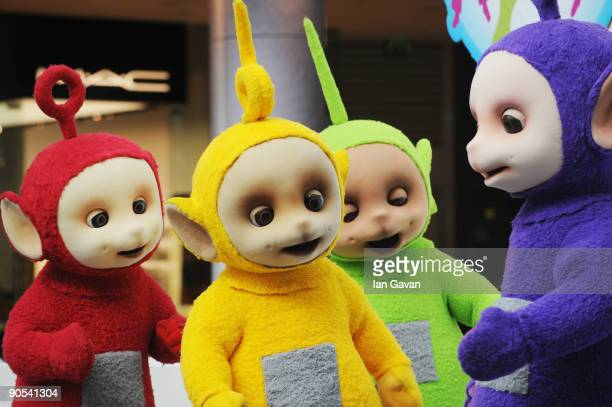 The Teletubbies Po LaaLaa Dipsy Tinky Winky attend photocall to promote new tour at Westfield on September 10 2009 in London England