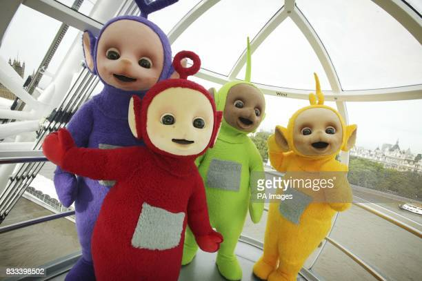 The Teletubbies take a trip on the London Eye to celebrate their 10th year on television