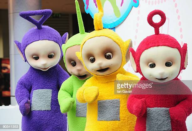 The Teletubbies Tinky Winky Dipsy LaaLaa and Po attend photocall to promote new tour at Westfield on September 10 2009 in London England