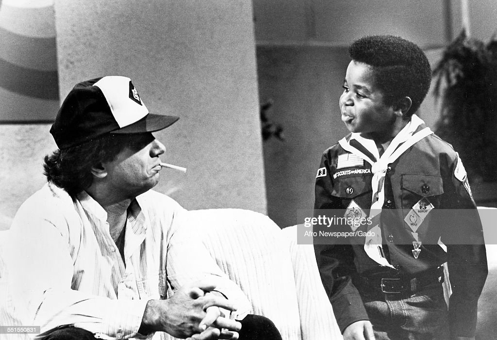 The television actor Gary Coleman, famous for his childhood role in Different Strokes comedy television series with another actor in the television series, 1975.