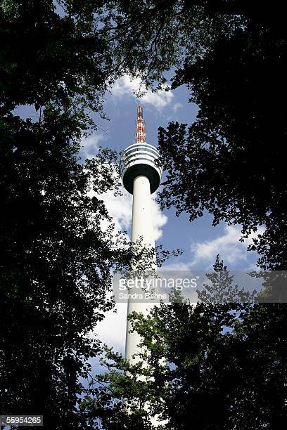 The television tower is seen on September 25 2005 in Stuttgart Germany The tower a concrete and steel construction was opened on the 5th February...