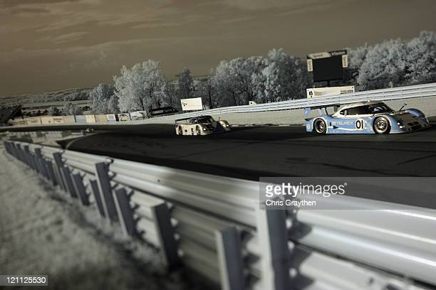 The TELMEX BMW Riley driven by Scott Pruett and Memo Rojas drives during the GrandAm Rolex Sports Car Series Watkins Glen 200 at Watkins Glen...