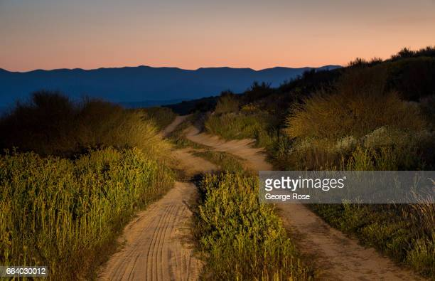 The Temblor Mountains along the Carrizo Plain are viewed before sunrise on March 29 in Carrizo Plain National Monument California Located in the...