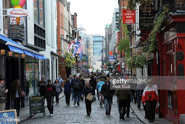 The Temple Bar Area Of Dublin Ireland Is Pictured On May 20 2017 Afp Photo