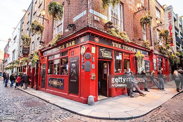 the temple bar in dublin - dublin stock pictures, royalty-free photos & images