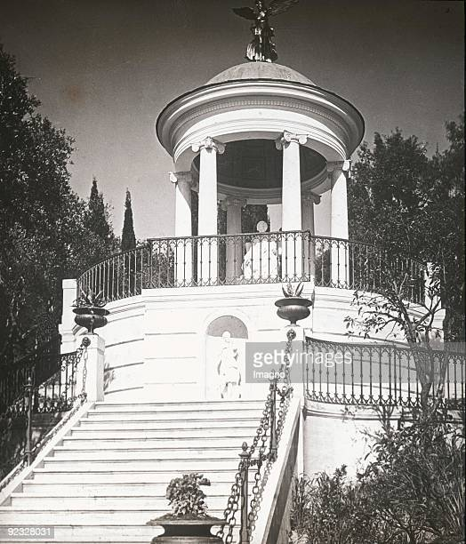 The Temple for Heinrich Heine in the garden of the Achilleion Corfu Greece Photograph around 1900