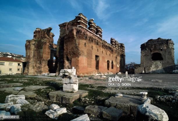 The temple known as Red Basilica, Pergamon , Turkey. Roman civilisation.