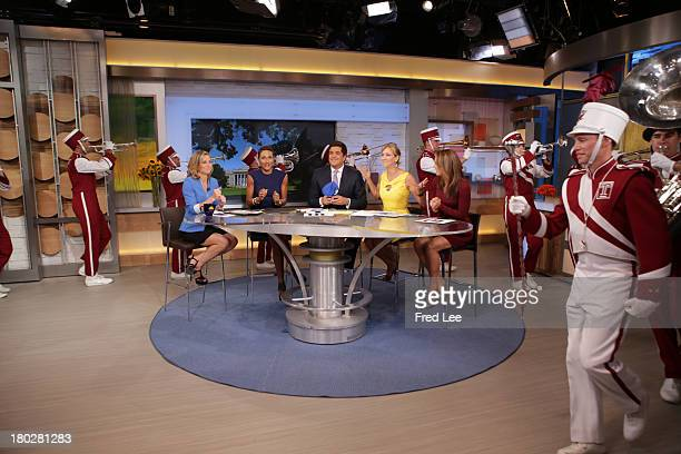 """The Temple Marching Band surprises the anchors on """"Good Morning America,"""" 9/10/13, airing on the Walt Disney Television via Getty Images Television..."""