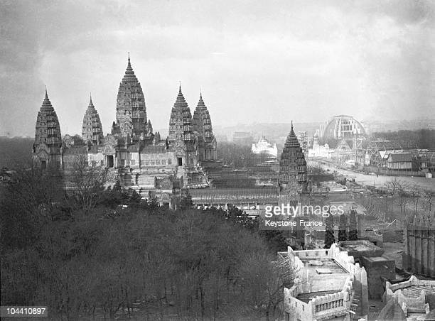 The temple of Angkor Wat at the site of the Colonial Exhibition in Paris in 1931