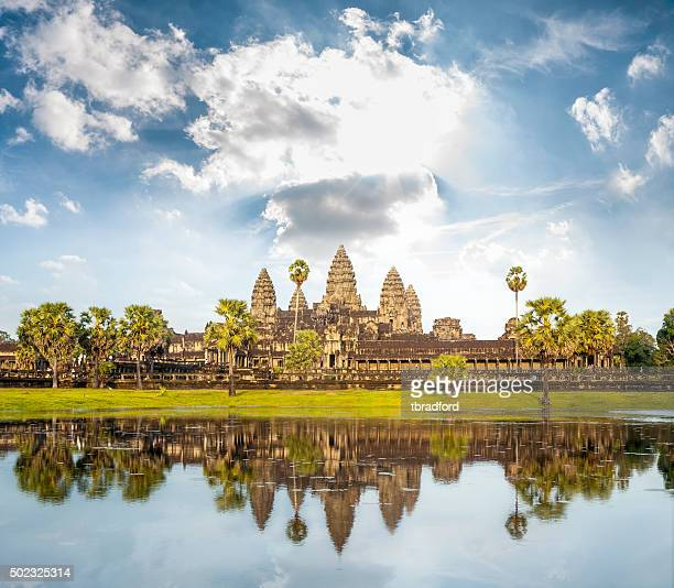 the temple of angkor wat in cambodia - angkor stock photos and pictures
