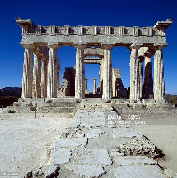 The Temple of Aphaea ca 500 BC Aegina Island Greece Greek civilisation 6th century BC