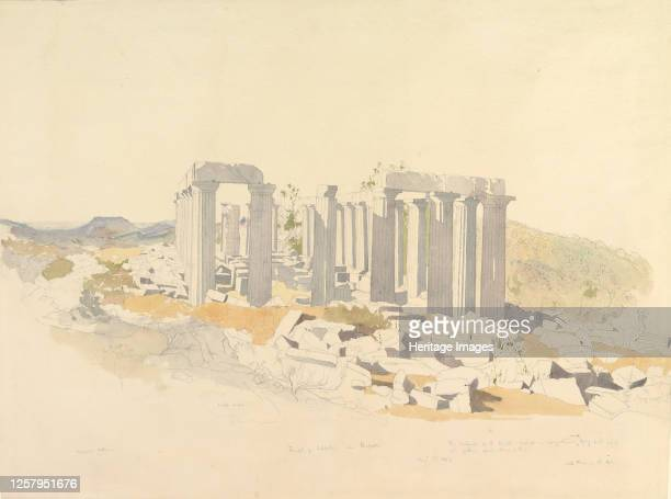 The Temple of Apollo at Bassae, 1843. Artist Thomas Hartley Cromek.