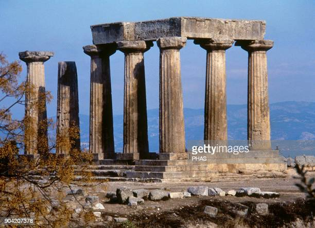 The Temple of Apollo Dated around 540 BC It was built in the Doric style General view of the ruins Corinth Greece