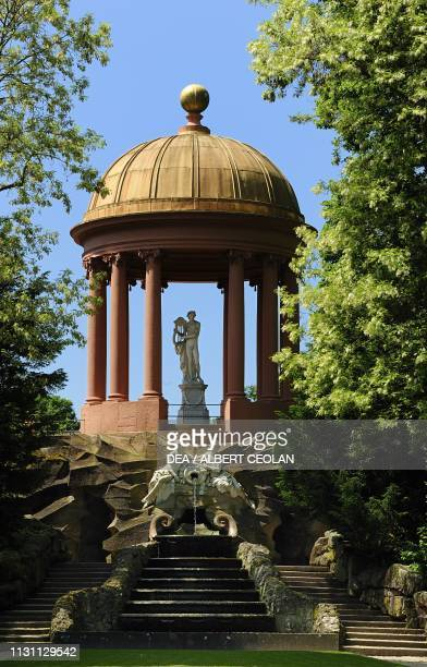 The Temple of Apollo in the garden of Schwetzingen Castle BadenWurttemberg Germany