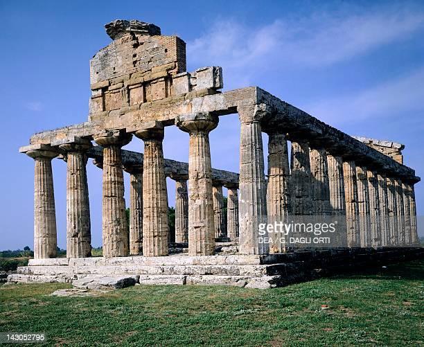 The Temple of Athena in Paestum Campania Italy Ancient Greek civilization Magna Graecia late 6thearly 5th century BC