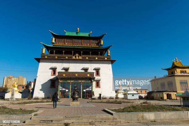 The Temple of Boddhisattva Avalokiteshvara at the Gandantegchinlen Monastery in Ulaanbaatar Mongolia