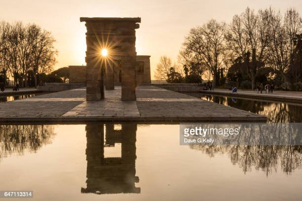 The Temple of Debod at Sunset