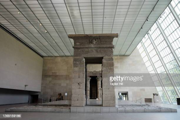 The Temple of Dendur is seen at The Metropolitan Museum of Art during its first day open to members since March on August 27, 2020 in New York City....