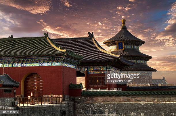 the temple of heaven, beijing - temple of heaven stock pictures, royalty-free photos & images