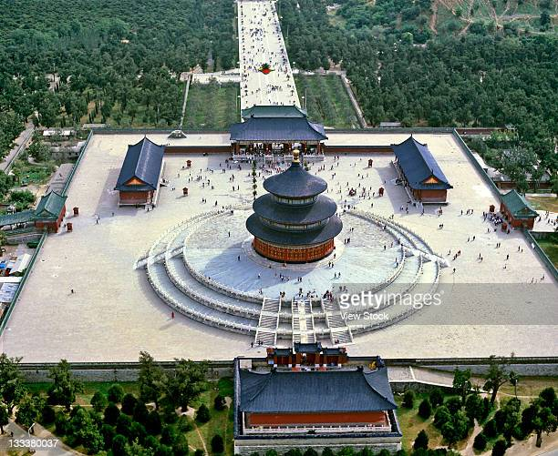 the temple of heaven,beijing,china - temple of heaven stock pictures, royalty-free photos & images