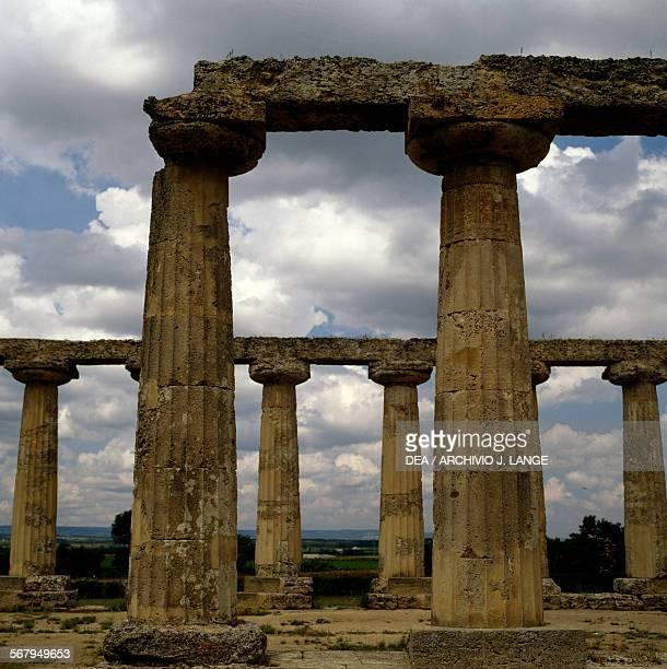 The Temple of Hera or Palatine Tables Doric style 6th century BC Metaponto archaeological area Bernalda Basilicata Italy
