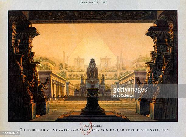 The temple of Isis and Osiris The Magic Flute 1816 Stage design by Karl Freidrich Schinkel for The Magic Flute showing the courtyard of the temple of...
