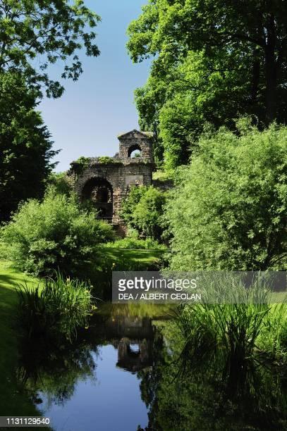The temple of Mercury in the garden of Schwetzingen Castle BadenWurttemberg Germany