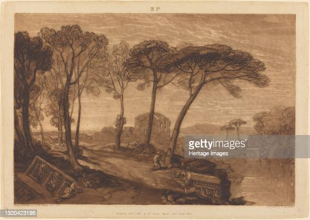 The Temple of Minerva Medica, published 1811. Artist JMW Turner.