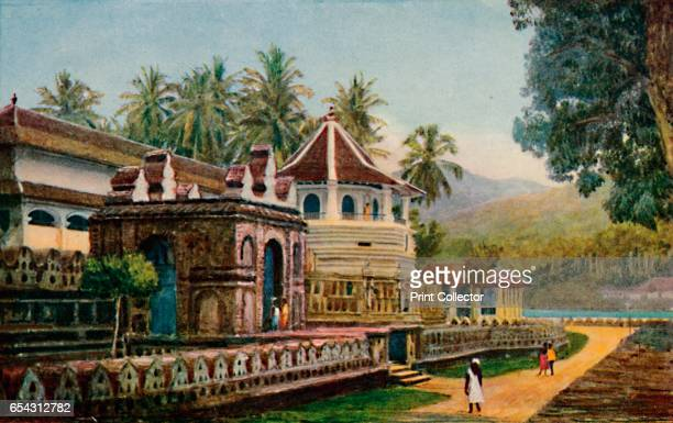 The Temple of the Sacred Tooth Kandy 1913 From The Gorgeous East by Frank Elias [Adam and Charles Black London 1913] Artist Thyra CreykeClark