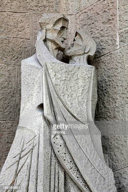 The Temple of the Sagrada Familia - Passion Facade - the kiss of Judas